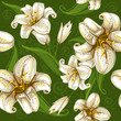 seamless pattern with lilies