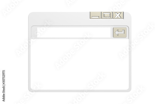 Internet Browser Window, simplified. Gray isolated on white