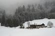 Schneefall in den Alpen