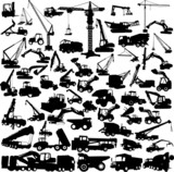Fototapety construction machine big collection vector