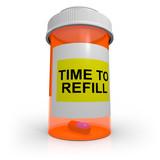 Empty Prescription Bottle - Time to Refill