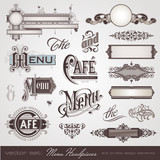Fototapety menu headpieces, panels and ornate design elements