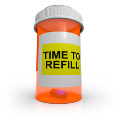 Empty Prescription Bottle - Time to Refill