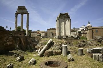 Roma, tempio di Castore e Polluce