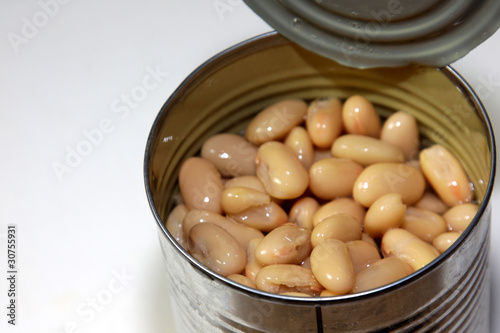 White Kidney Beans Close-Up