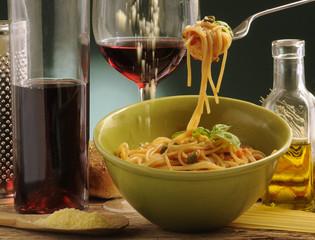 Spaghetti e formaggio grana
