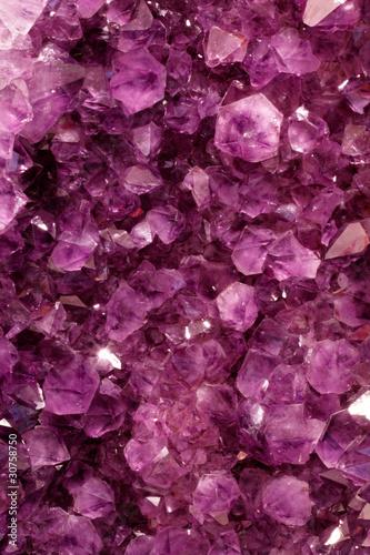 Spoed canvasdoek 2cm dik Edelsteen Purple Gems
