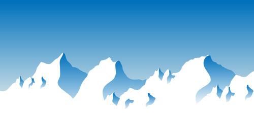 Стилизованные горные вершины