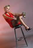 Teen girl on chair #2