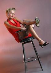 Teen girl on chair #2