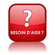 "Bouton Web ""BESOIN D'AIDE ?"" (assistance service clients sos)"