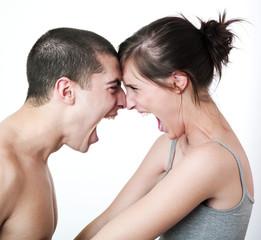 jeune couple passionnel