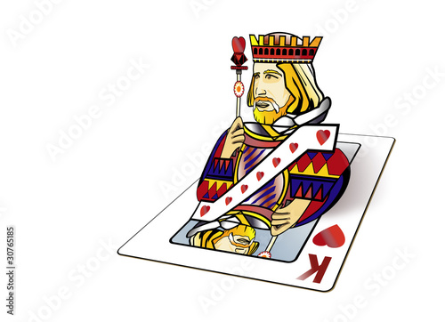 Roi de coeur - Sortir da la carte