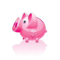 piggy bank with a dollar sign