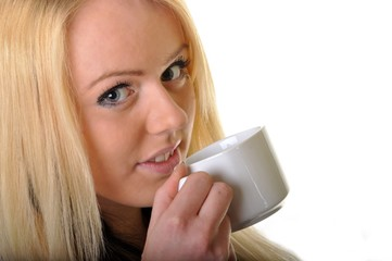 woman and coffe