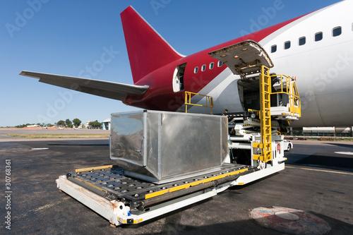 Loading cargo plane - 30768361