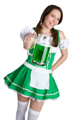 Green Beer Woman