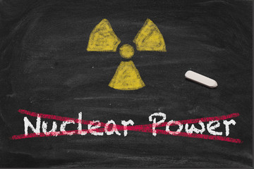 Crossed out Nuclear Power