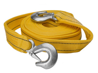 Towing rope with hooks