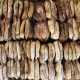 Dried figs with  closeup, natural background