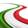 Italia Tricolore Onda Astratta-Italy Flag Abstract Wave