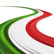 Italia Tricolore Onda Astratta-Italy Flag Abstract Wave
