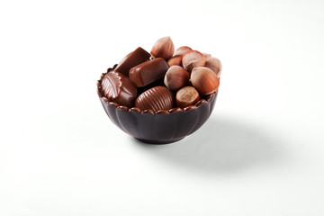 Chocolate sweets and nuts