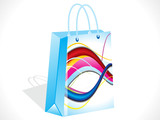 abstract colorful shopping bag