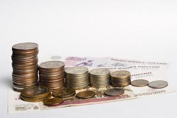 Русские деньги. Монеты, банкноты.