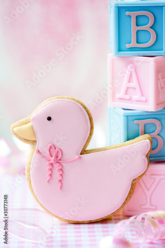 Baby shower cookie