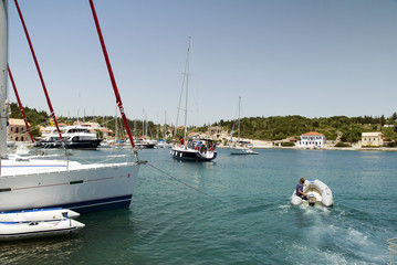 Fiskardos on Island of Kephalonia Greece