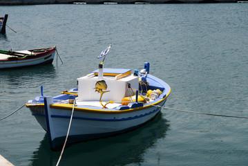 Fishing Boat at sami on the island of Kephalonia Greece