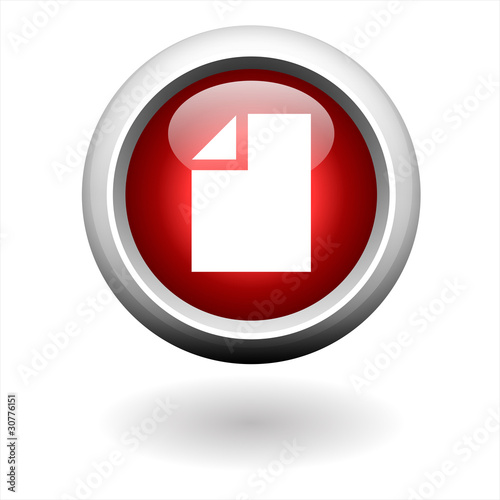 Round Red File Button