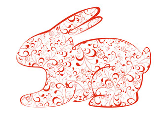 Red easter bunny