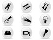 Web buttons, home repair symbols