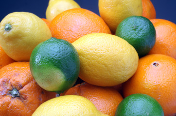 Citruses: lime, lemon and orange