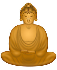 Zen Buddha in Sitting Position