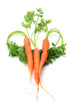 Carrots Arranged in Heart Shape