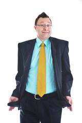 businessman isolated pocket