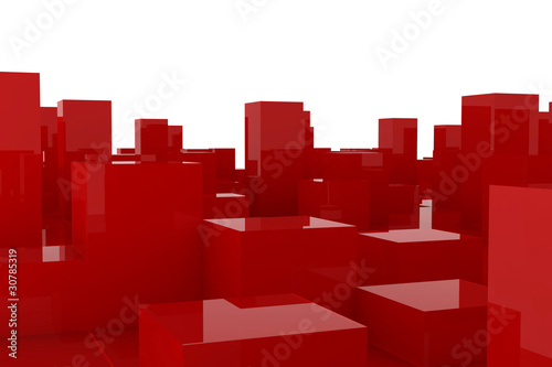 abstract red city - 30785319