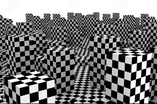 abstract checked city - 30785359