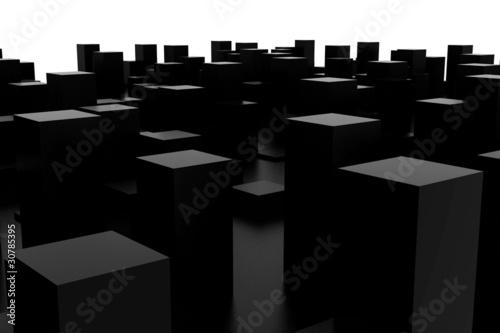 abstract dark city - 30785395