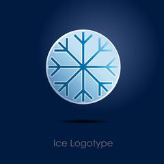 Logo Ice Button # Vector