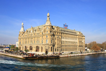 Haydarpasa station building in Istanbul