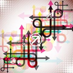 Stylish colorful arrows background