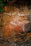 aboriginal graffiti at australian national park