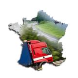 Carte de france concept transport