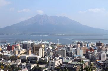 Kagoshima and Mt Sakurajima, Japan