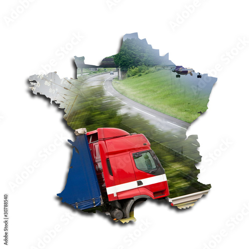 Carte de france concept transport de chlorophylle photo for Espace chlorophylle