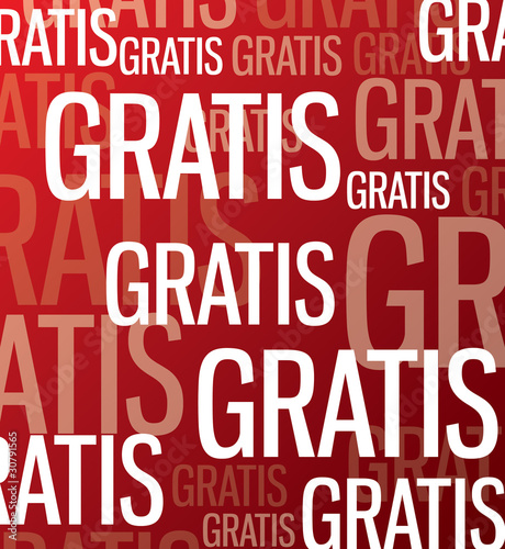 Aktions Button - Gratis - rot